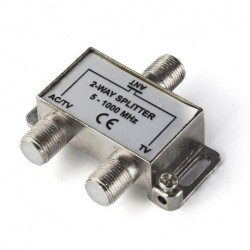 2 Way HD Digital 1Ghz High Performance Coax Cable Splitter