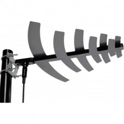 HDTV Antenna Amplified Digital Outdoor Antenna with Detachable Amplifier Signal Booster For UHF,50 Miles Range,Tools-free installation