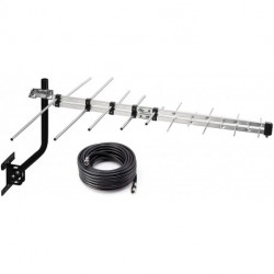 Digital HD Yagi Antenna Long Range for Clear Reception, 4K 1080P with 40FT RG6 Coax Cable & Mounting Pole