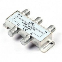 4 Way HD Digital 1Ghz High Performance Coax Cable Splitter